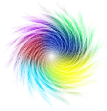 Multicolored curves forming a spiral