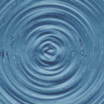 Grey ripples being formed on the water surface