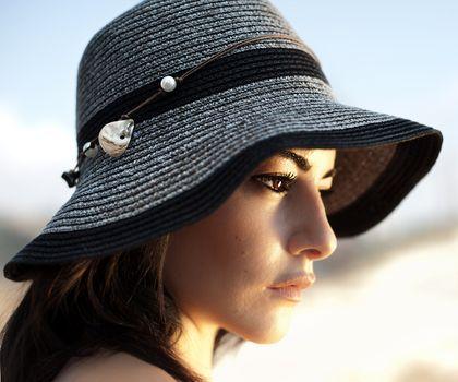 Woman in stylish hat