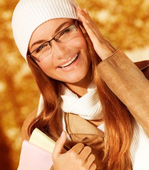 Cheerful student girl