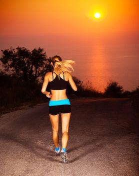 Sporty runner female