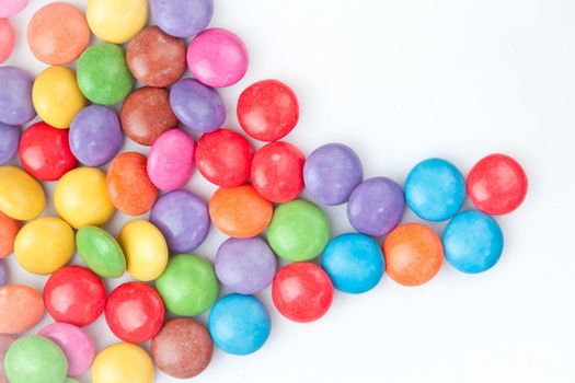 Multicolored candies