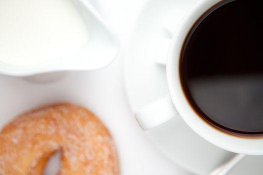 Espresso with doughnut