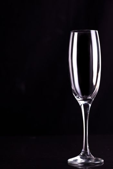 Empty champagne flute