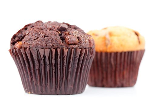 Fresh baked muffins side by side