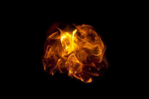 Ball of fire flames