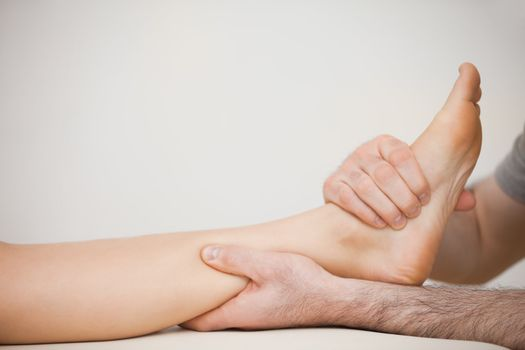 Muscle of a foot being massaged