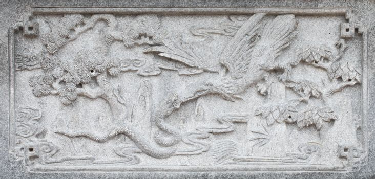Birds with Trees on Carve Wall