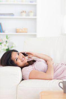 Woman phoning while phoning