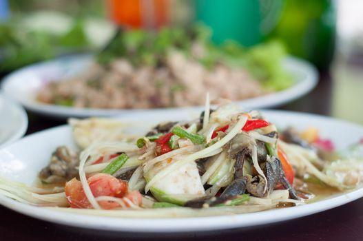 thai papaya fruit salad - somtum