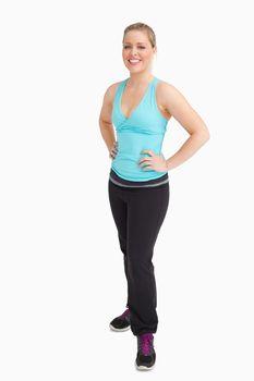 Woman wearing sportswear