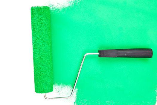Horizontal green brush stroke