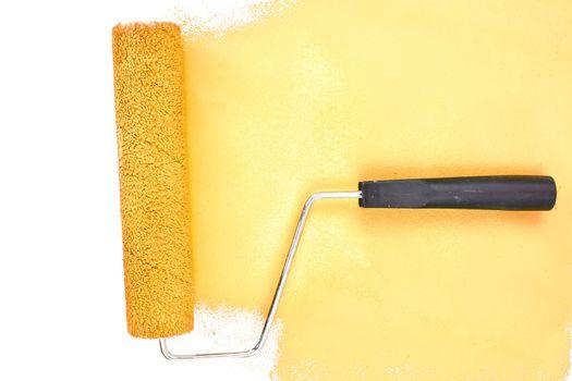 Horizontal yellow brush stroke