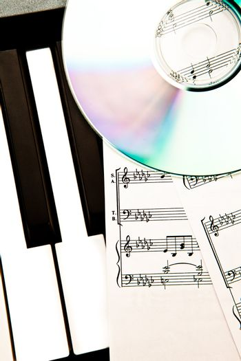 Cd and music score