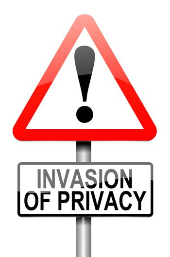 Invasion of privacy warning.