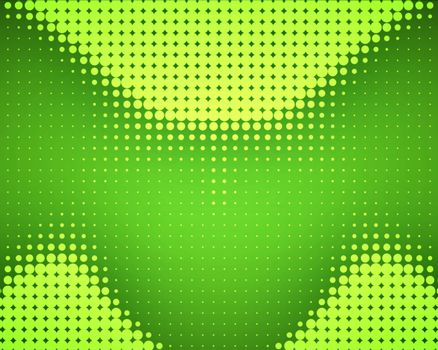 Green dots placed in wave
