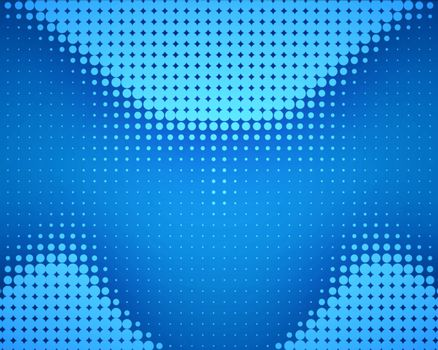 Blue dots placed in wave