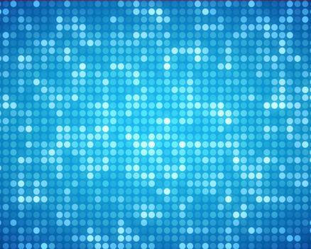 Multiples blue dots