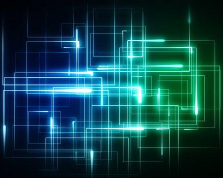 Multiple geometric lights