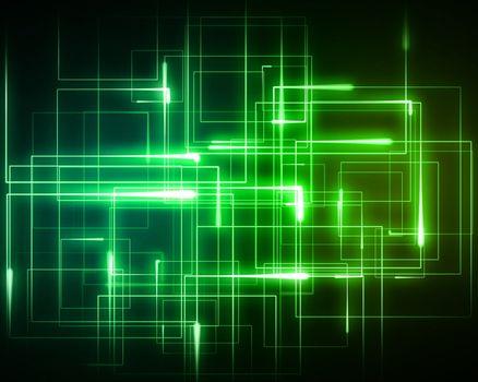 Multiple green geometric lights