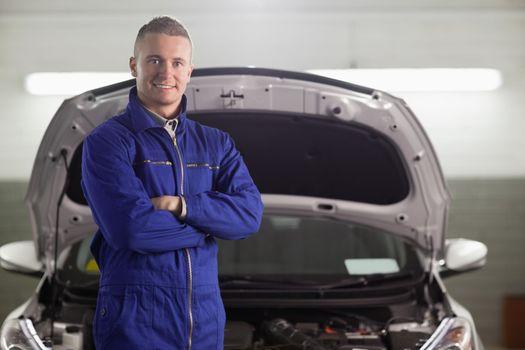 Mechanic standing