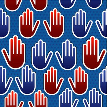 USA elections hand pattern
