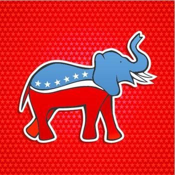 USA elections Republican party elephant emblem