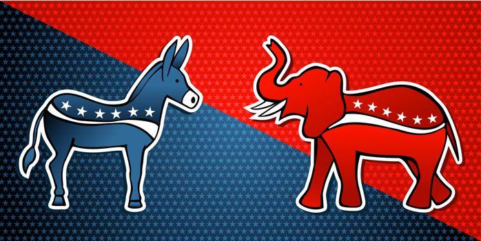 USA elections Democratic vs Republican party