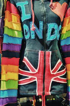 Sweatshirt in a London Market, Camden Town