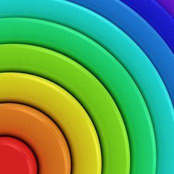 Fragment of rainbow palette