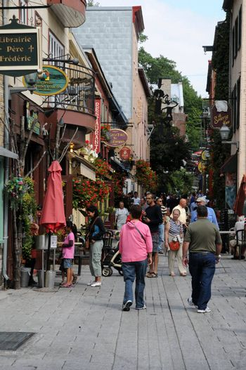 Canada, the historical district of Petit Champlain in Quebec