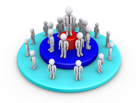 Businessmen leadership concept