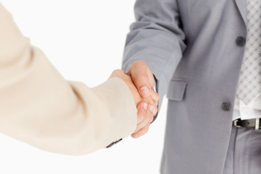 People in suit having an agreement