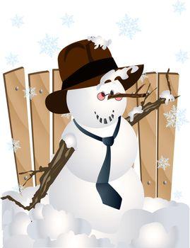 business snowman clip art