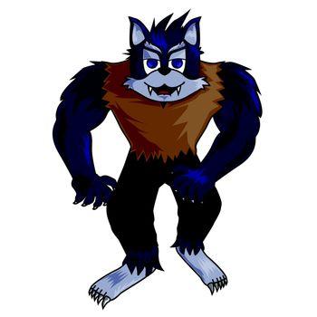 cartoon werewolf clip art
