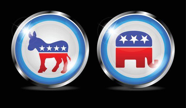 democratic and republican vector