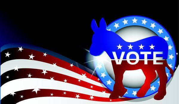 democratic donkey vector