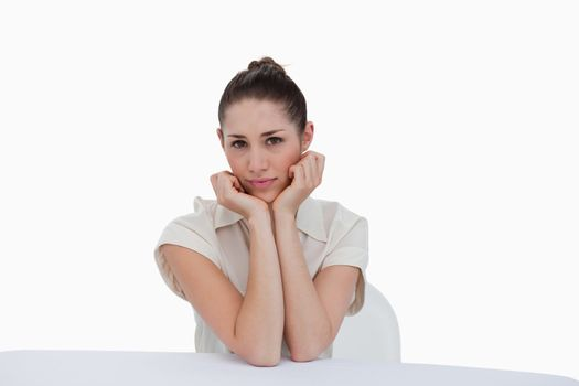 Serene businesswoman sitting