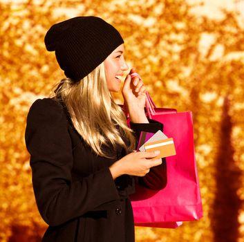 Girl with shopping bag