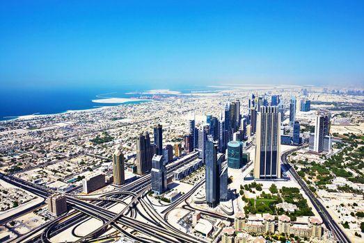 Top view of Dubai