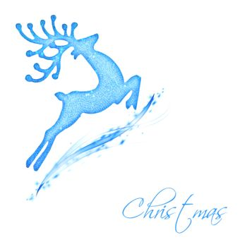 Flying Santa's reindeer