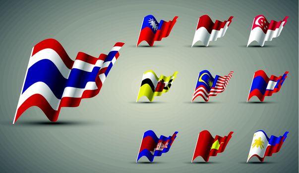 members of ASEAN , ASEAN streaming flags