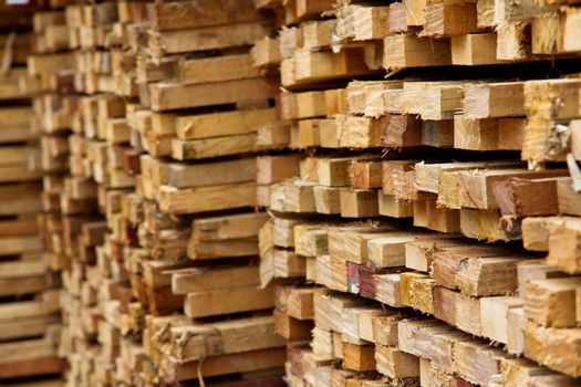 stack of timber wood