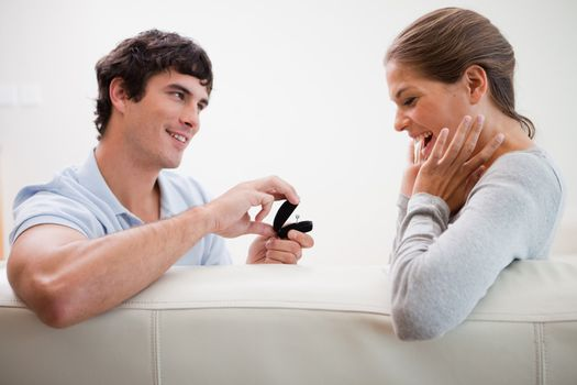 Man making a proposal of marriage