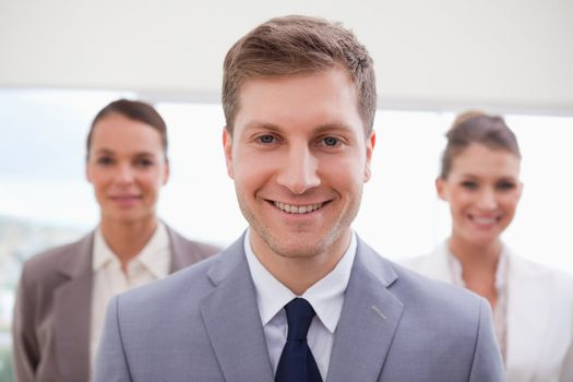 Sales manager standing