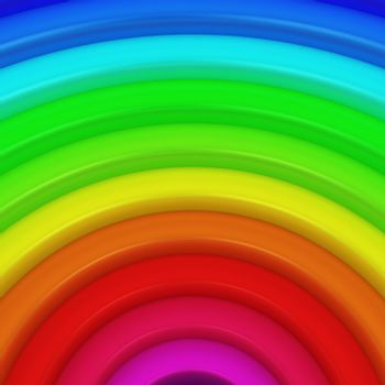 Segment of rainbow as a colorful background