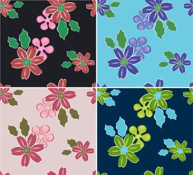 seamless flower pattern textures