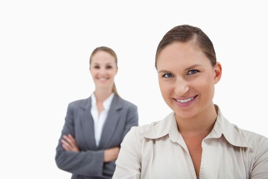 Sales persons posing