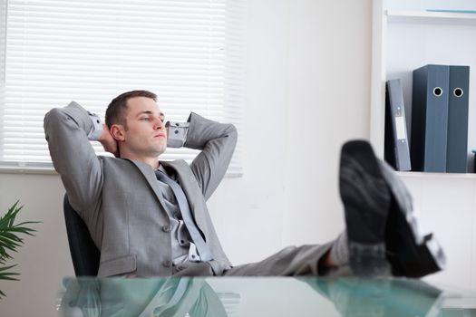 Businessman taking a rest