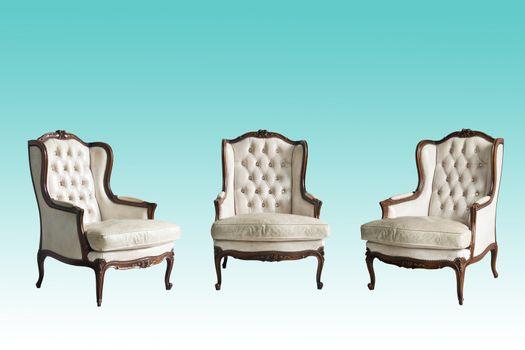 Luxurious armchairs